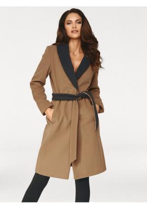Пальто Ashley Brooke. Цвет: серо-коричневый