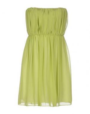 Короткое платье HOPE COLLECTION. Цвет: светло-зеленый