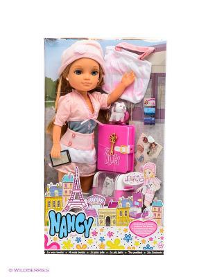 Кукла Нэнси Путешественница Завтрак в Париже Famosa. Цвет: персиковый, малиновый, розовый