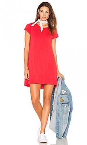 Платье-рубашка cuba Michael Lauren. Цвет: красный