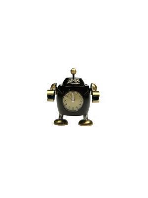 Часы настольные Робот Русские подарки. Цвет: белый, кремовый