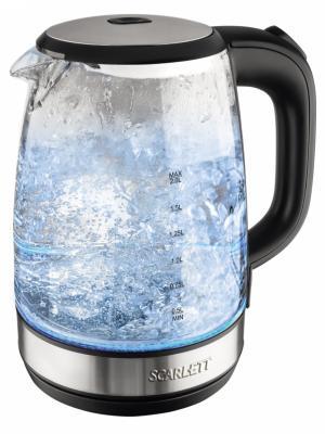 Чайник Scarlett SC-EK27G16 2л. 2200Вт черный (стекло). Цвет: черный