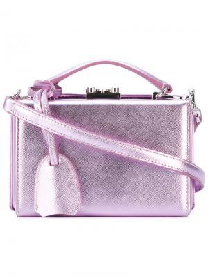 Клатч-футляр с отделкой металлик Mark Cross. Цвет: розовый и фиолетовый