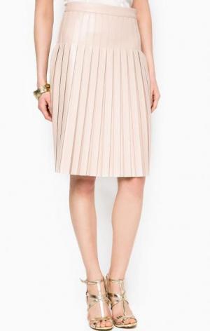 Плиссированная бежевая юбка MARCIANO Guess. Цвет: бежевый