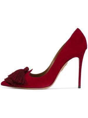 Туфли-лодочки с кисточками Aquazzura. Цвет: розовый и фиолетовый