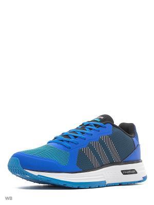 Кроссовки CLOUDFOAM FLYER  BLUE/CBLACK/FTWWHT Adidas. Цвет: синий, белый, черный