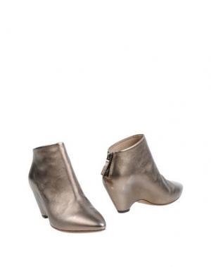 Полусапоги и высокие ботинки EL. Цвет: бронзовый