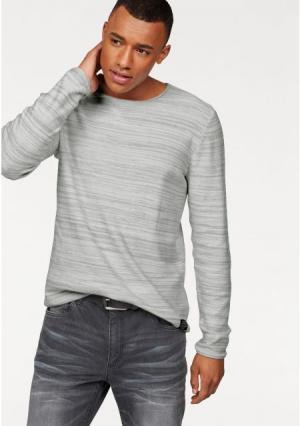 Пуловер JOHN DEVIN. Цвет: серый меланжевый, синий/меланжевый, черный/меланжевый