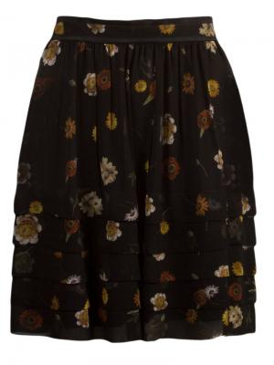 Layered floral skirt Vitorino Campos. Цвет: чёрный