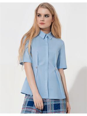 Блузка LO. Цвет: голубой