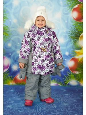 Комплект для девочки Little Boy. Цвет: белый, серый, сиреневый