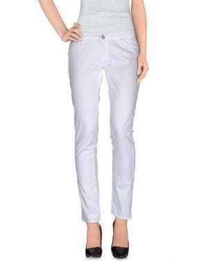 Повседневные брюки TAKE-TWO. Цвет: белый