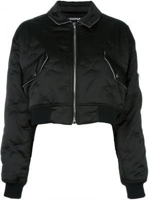 Куртка-бомбер Cory Filles A Papa. Цвет: чёрный