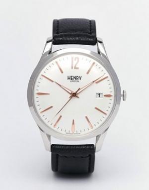 Henry London Часы с кожаным ремешком Highgate. Цвет: черный
