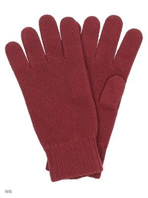 Перчатки United Colors of Benetton. Цвет: бордовый