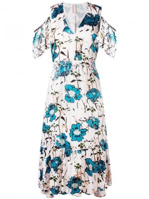 Платье с открытыми плечами Antonio Marras. Цвет: телесный