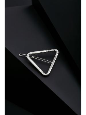 Заколка для волос Треугольник Деметры, 5х4,5 см Nothing but Love. Цвет: серебристый