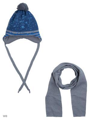 Шапка и шарф Agbo. Цвет: темно-серый