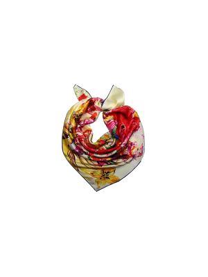 Платок Venera. Цвет: бежевый, красный