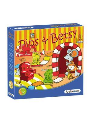 Развивающая игра Пипс и Бетси Beleduc. Цвет: светло-голубой