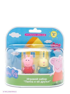 Игровой набор Пеппа и Ребекка Peppa Pig. Цвет: желтый, бирюзовый, розовый