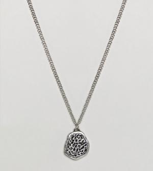 Reclaimed Vintage Серебристое ожерелье с подвеской Inspired эксклюзивн. Цвет: серебряный