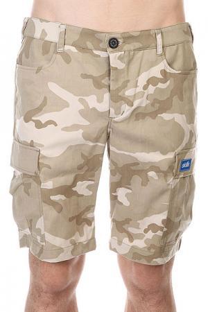 Шорты  Cargo Shorts 2 Biege/Camo Skills. Цвет: бежевый,серый