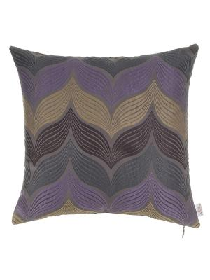 Чехол для подушки Violet листья Apolena. Цвет: фиолетовый