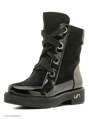 Ботинки Gene. Цвет: черный