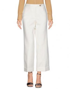 Повседневные брюки STEFANEL. Цвет: белый