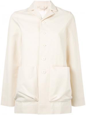 Пиджак с накладными карманами Toogood. Цвет: телесный