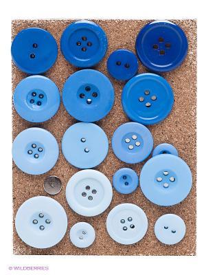 Набор кнопок Kikkerland. Цвет: синий, голубой