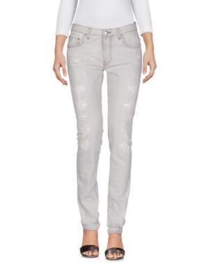 Джинсовые брюки AGLINI. Цвет: серый