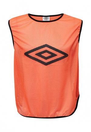 Майка спортивная Umbro. Цвет: оранжевый