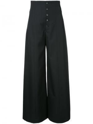 Широкие брюки с завышенной талией Le Ciel Bleu. Цвет: чёрный