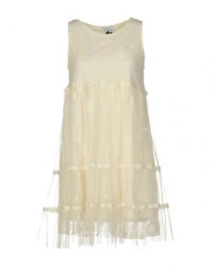 Короткое платье EDWARD ACHOUR. Цвет: слоновая кость