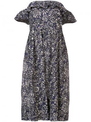 Платье с цветочным принтом Apiece Apart. Цвет: синий