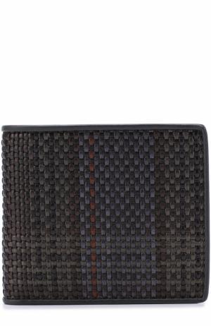Кожаное портмоне с отделениями для кредитных карт Zegna Couture. Цвет: разноцветный