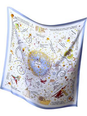 Шелковый платок Правила Маленького Принца Маленький Принц. Цвет: белый
