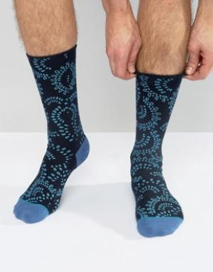 Stance Темно-синие носки с принтом пейсли Veracruz. Цвет: темно-синий