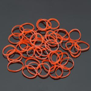 Набор резинок для плетения браслетов  арт. БПР-092 Бусики-Колечки. Цвет: красный