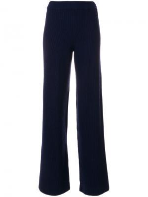 Широкие вязаные брюки Nanushka. Цвет: синий