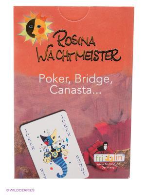 Настольная карточная игра, с мотивами Розины Вахтмайстер FRIDOLIN. Цвет: красный
