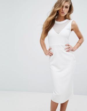 Supertrash Облегающее платье Dython. Цвет: белый