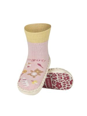 Тапочки-носочки Soxo. Цвет: розовый, белый