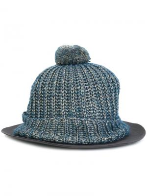 Шапка-бини с широкими полями Super Duper Hats. Цвет: синий