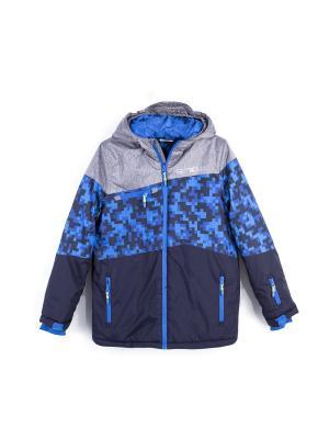 Пуховик Coccodrillo. Цвет: темно-синий, серый, синий