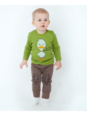 Комплект одежды VATAGA. Цвет: бежевый, зеленый