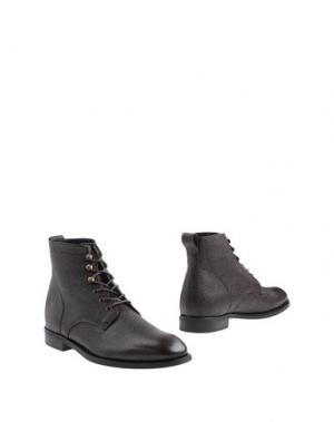 Полусапоги и высокие ботинки J. LINDEBERG. Цвет: темно-коричневый