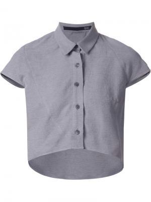 Укороченная рубашка Ødd.. Цвет: серый
